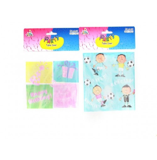 Party Table Cloth 183cm Boy & Girl