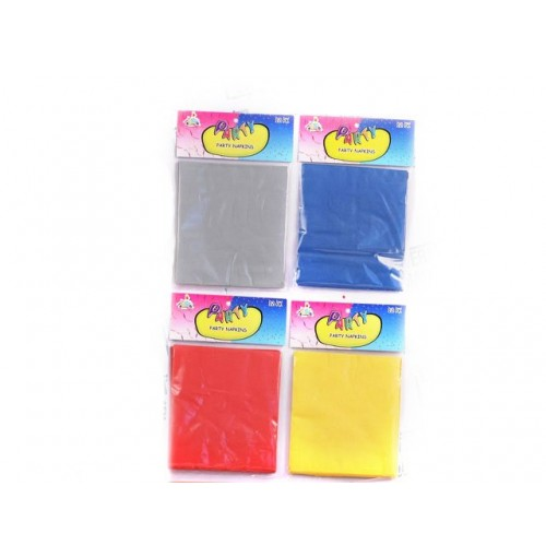 Party Napkins 12pk Solid Colour