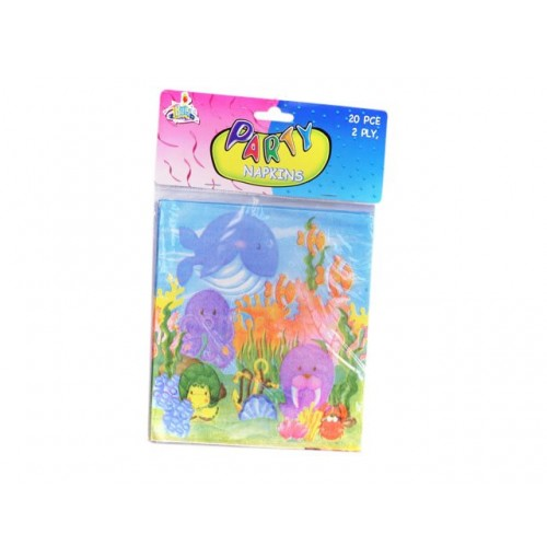 Sea Life Birthday Napkins 20pcs
