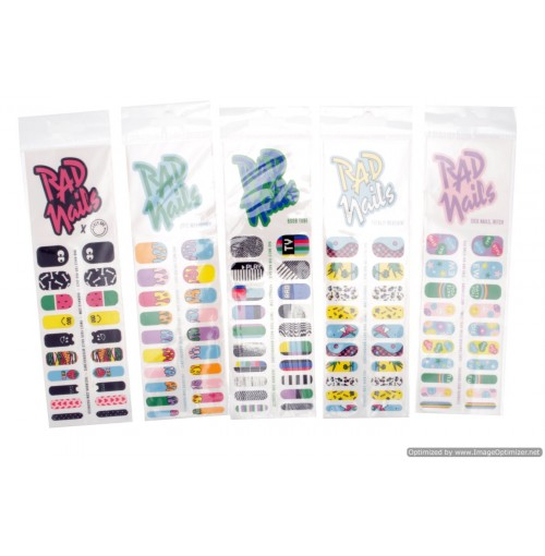 Rad Nail Sticker Fingers And Toes 20pcs