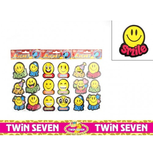 Magnet Smiley Face 6pk