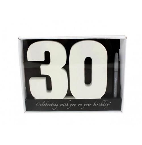 Signature Number 30 Bday W/Pen 29x22x2cm