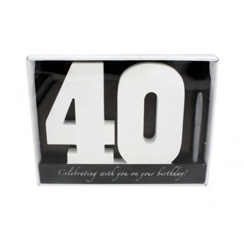 Signature Number 40 Bday W/Pen 29x22x2cm