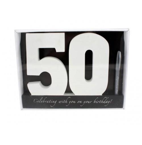 Signature Number 50 Bday W/Pen 29x22x2cm