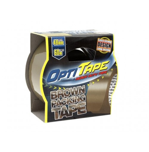 Opti Tape Brown Packing 48mm X 60m Sleeve Pack