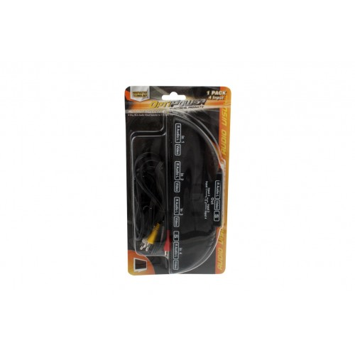 Opti Power Av Single Converter 4 Inputs Connects 3 Male Plugs
