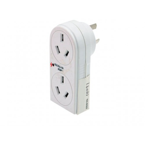 Opti Power 2 Socket Double Adaptor Surge / Led  Light
