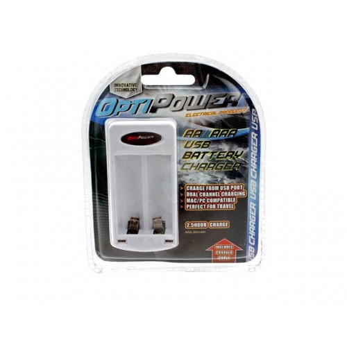 Opti Power Usb Battery Charger For Aa & Aaa Batteries