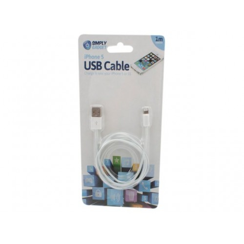 Iphone 5 Charging Cable  1mtr Black/White