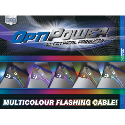 Led Micro Usb Android Cable 20cm Flashes Changes Colour