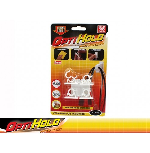 Opti Hold Grip Clip 4pk 300g Removable