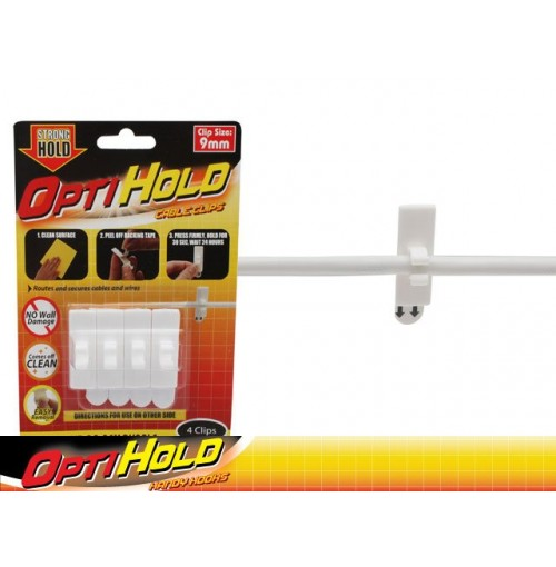 Opti Hold Cable Clip 4pk 9mm