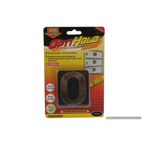 Opti Hold Number Zero Gold 4.7 X 5.5cm