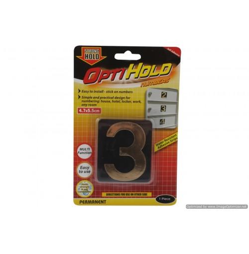 Opti Hold Number Three Gold 4.7 X 5.5cm