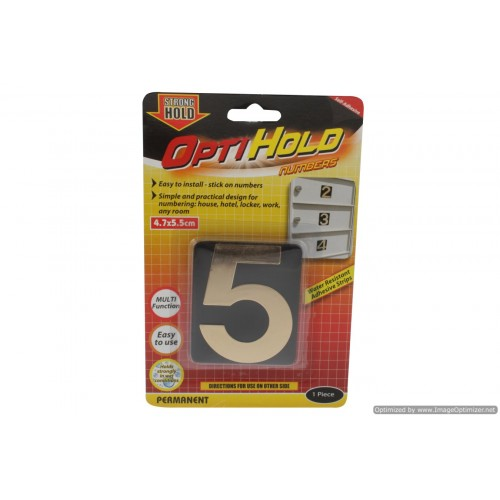 Opti Hold Number Five Gold 4.7 X 5.5cm