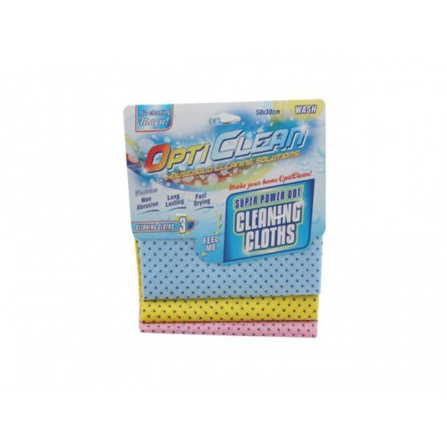 Opti Clean All Purpose Cleaning Cloth With Grippers 3 Pack