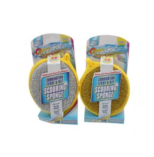 Opti Clean Spong Terry/Net 2 Clrs Sparkling Scourer