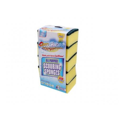 Opti Clean Scouring Pad 5pk All Purpose