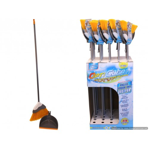 Opti Clean Angle Broom 137cm With Dustpan In Display