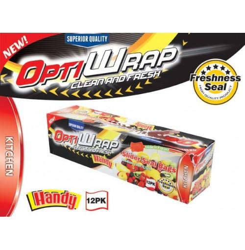 Opti Wrap Slider Bags Med 12pk 20 X 17.5cm