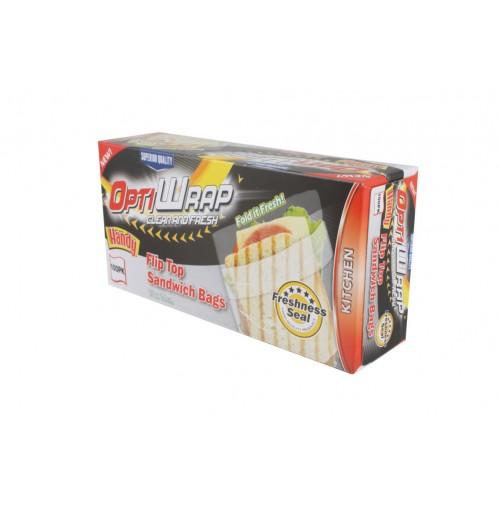Opti Wrap Flip Top Sandwich Bag 100pk 15 X 14cm