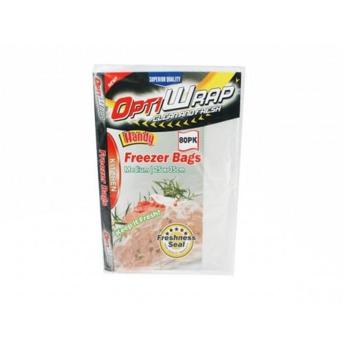 Opti Wrap Freezer Bags Medium 80pk 25 X 35