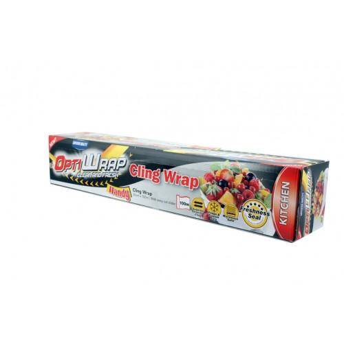 Opti Wrap Cling Wrap W Cutter 30cm X 100m
