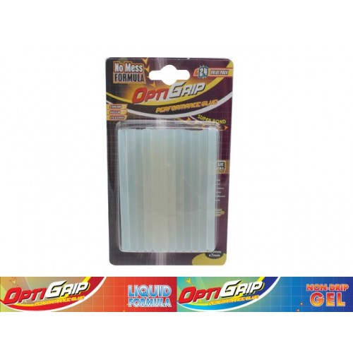 Opti Grip Glue Gun Sticks 100mm X 7mm 24 Pce