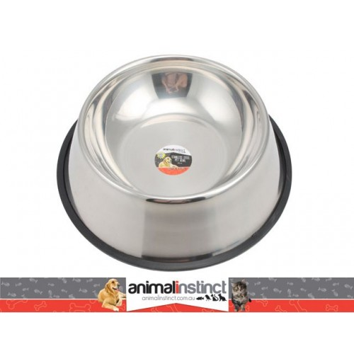 Pet Dish S/Steel Non Slip 26cm 900ml