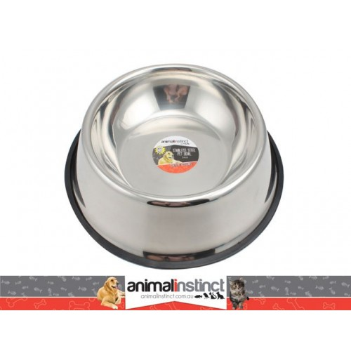 Pet Dish S/Steel Non Slip 34cm 2.8l