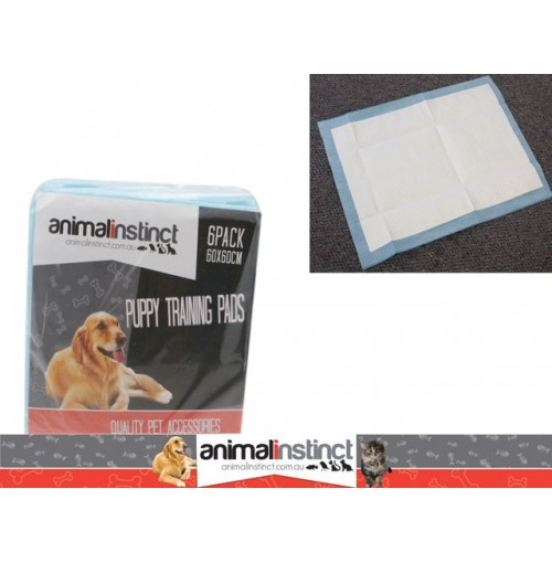 Pet Puppy Training Pads 6pk Dogs 60x60cm