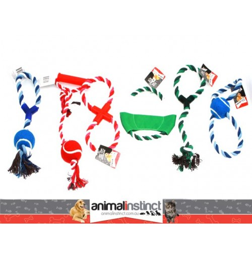 Pet Toy Rope & Ball Des