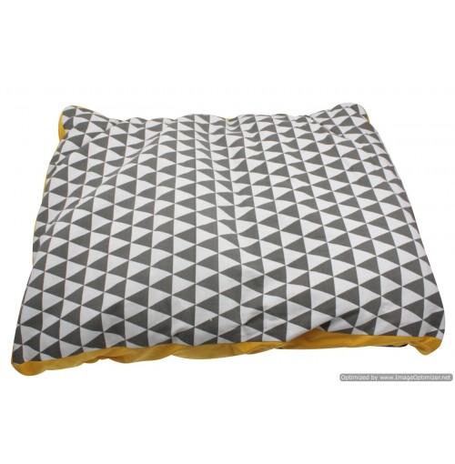 Rect. Geometric Pet Dog Bed 100x75x12cm