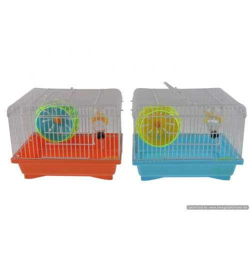 Hamster Cage With Wheel  23x27x18cm