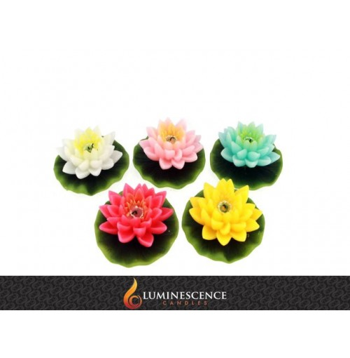 Floating Lotus Flower Candle Single Lrg