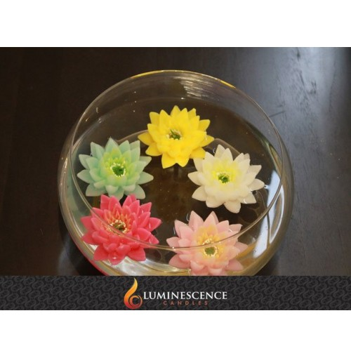 Floating Lotus Flower Candle