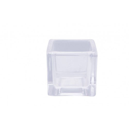 Clear Glass T/Light Holder Cube 5.3x5.3x5.3cm