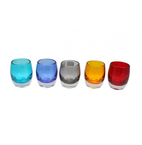 Clear Glass Candle Holder D/9cm H/10cm
