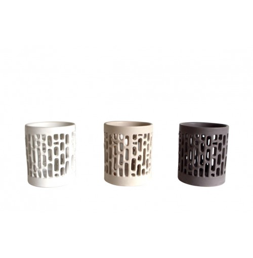 Ceramic Cylinder Candle Holder