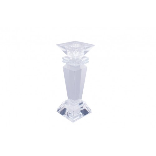 Crystal Square Head Taper Holder 15.5cm