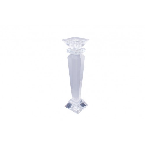 Crystal Square Head Taper Holder 22.5cm