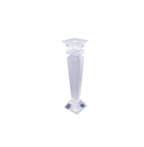 Crystal Square Head Taper Holder 22.5cm