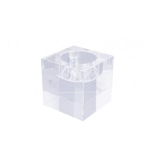Crystal Cube T/Light Holder A 6x6x6cm