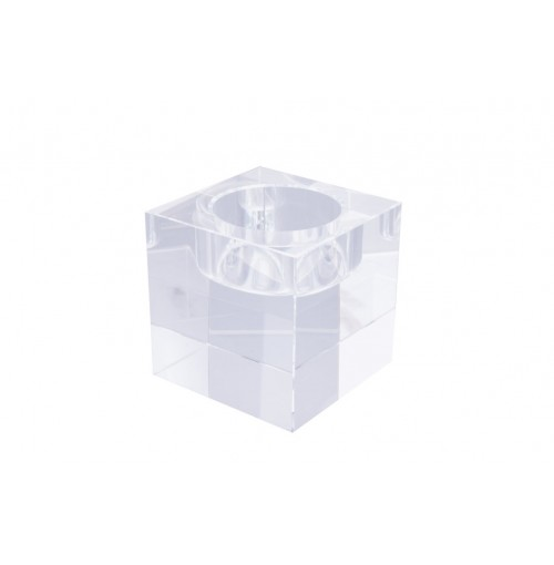 Crystal Cube T/Light Holder A 6x6x6cm