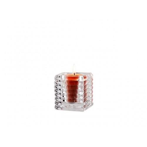 Clear Rib Cube T/Light Holder 5.5x5.5x5.5cm