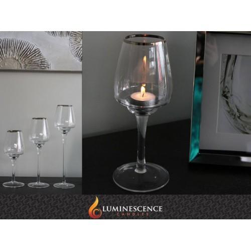 Bailey Brandy A T/Light Holder Glass D/8cm H/20cm