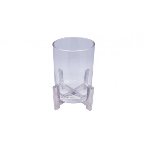 Bella Clr Glass Med W/Metal Stand Hurricane 17x12x21cm