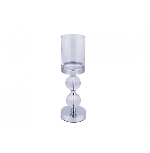 Elizabeth Two Ball Hurricane Lamp 12x38cm