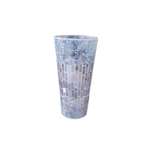 Natural Mosaic Vase Shape Lrg Hurricane 15.5x30cm