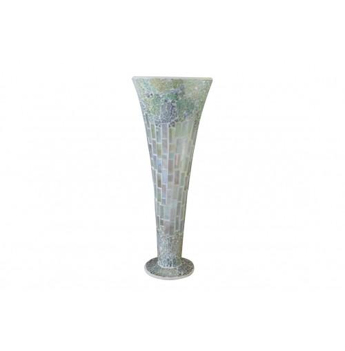 Natural Mosaic Vase Lrg 15x40cm
